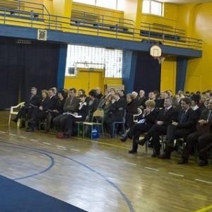 nadanie imienia, przemówienie, sala gimanstyczna